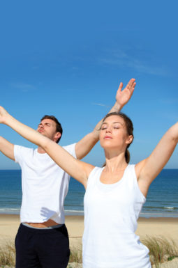 Breathe With Ease method (people with arms wide open)